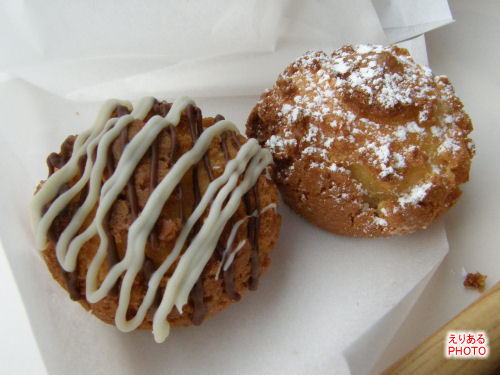 マーブルチョコクッキーシューとクッキーシュー
