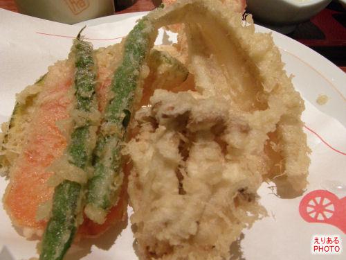 天ぷら定食の天ぷら