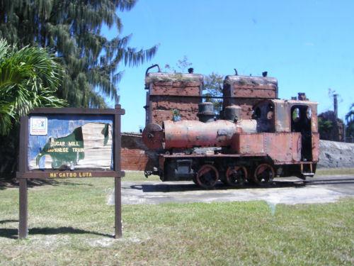製糖工場跡と蒸気機関車