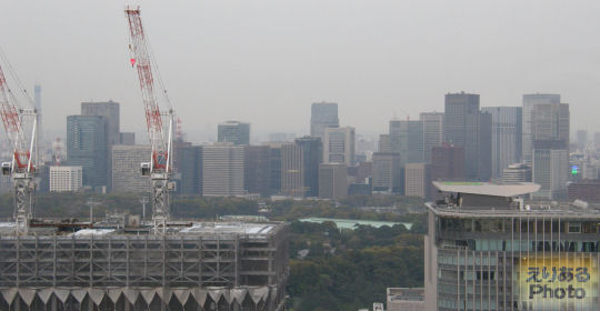 グランドプリンスホテル赤坂 TOP of AKASAKA からの風景(東京駅方面)