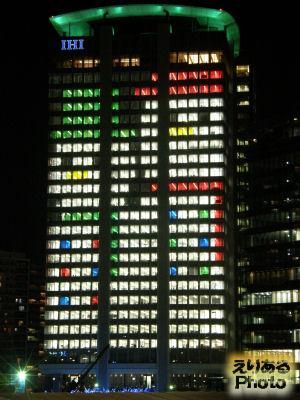 豊洲IHIビル クリスマスウインドアート2010
