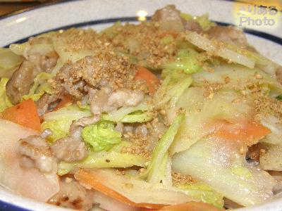 豚肉と白菜のシーザードレッシング炒め