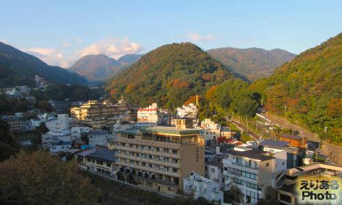 湯本富士屋ホテルからの朝の風景