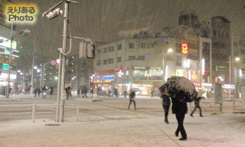 2014年2月14日東京・豊洲の雪