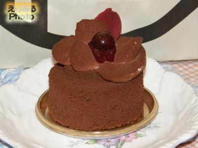 チョコレートとチェリーのケーキ@アンリ・シャルパンティエ