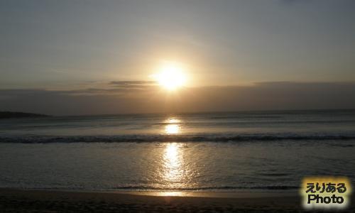 インターコンチネンタル・バリ・リゾートから見た夕陽