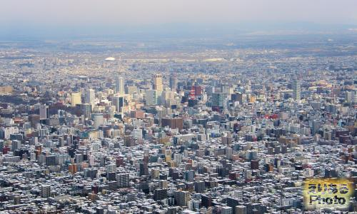 札幌もいわ山展望台から見た札幌市内