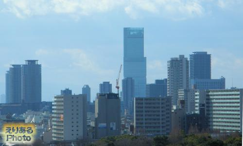 ホテルニューオータニ大阪から見たあべのハルカス