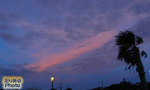 南房総・館山・北条海水浴場から見た夕焼け