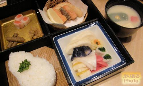 京漬物御膳と京のごはんセット@京つけもの 西利 ザ・キューブ店