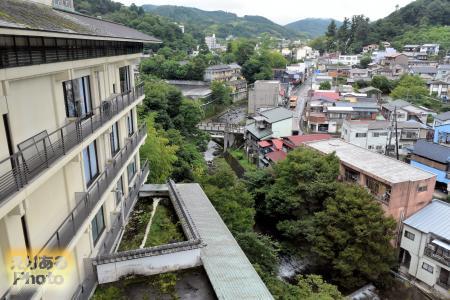 修善寺温泉 桂川から望む