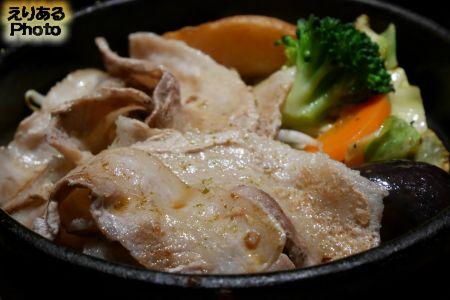 七草ランチセット イタリア産ホエー豚と野菜の鉄板焼き
