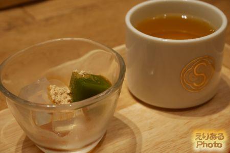 まげわっぱ弁当 甘味とお茶