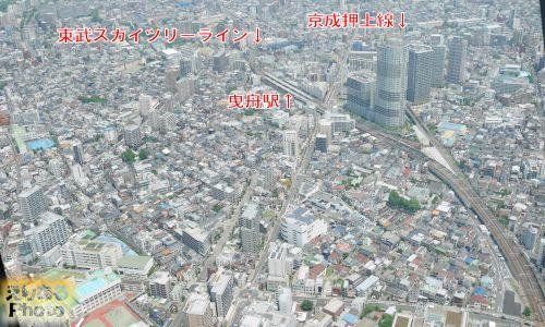 東京スカイツリーからの風景
