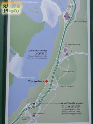 ナイアガラパークスの地図