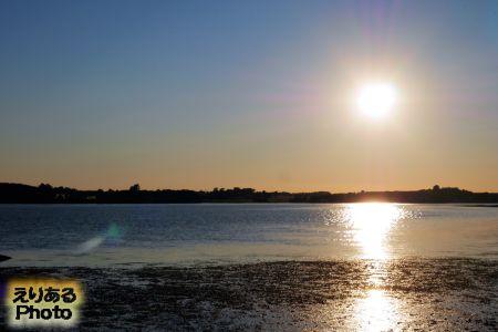シャーロットタウンから見た夕陽