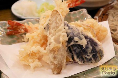 海老と冬野菜のおろし天せいろそば@石臼挽きそば 石楽