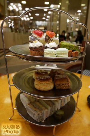 抹茶とともに楽しむアフタヌーンティー@帝国ホテル ランデブーラウンジ・バー