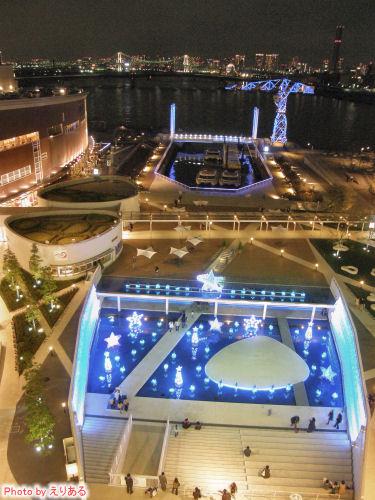 2008年のアーバンドックららぽーと豊洲のクリスマスイルミネーション