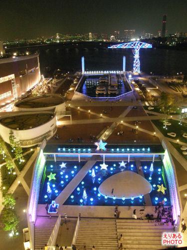 2009年のアーバンドックららぽーと豊洲のクリスマスイルミネーション