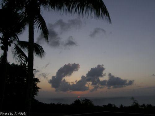 ロタで見た最後の夕陽