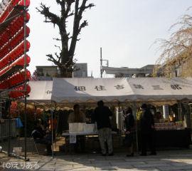 住吉神社でお汁粉の無料サービス
