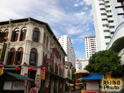シンガポール・チャイナタウンの街並み
