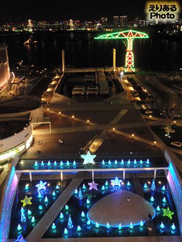 2010年のアーバンドックららぽーと豊洲のクリスマスイルミネーション