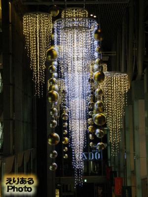 2010年の丸の内オアゾのクリスマスイルミネーション