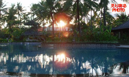 バリ島での夕陽