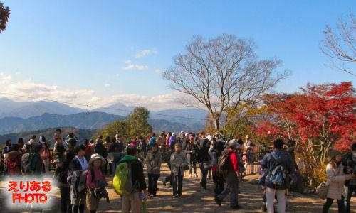 高尾山山頂付近の大見晴園地
