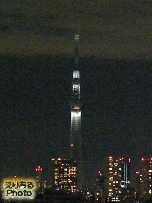 東京スカイツリーの追悼ライトアップ