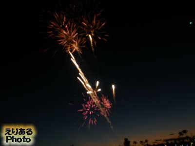 ヒルトン・ハワイアン・ビレッジのビーチの花火