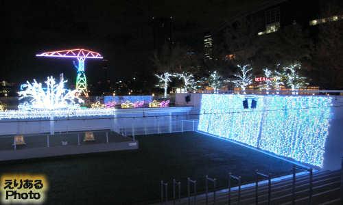 2013年のアーバンドックららぽーと豊洲のクリスマスイルミネーション
