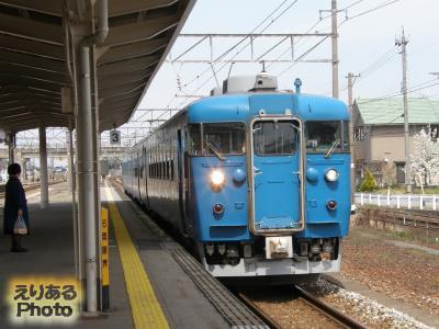 滑川駅からJR北陸本線で富山駅まで