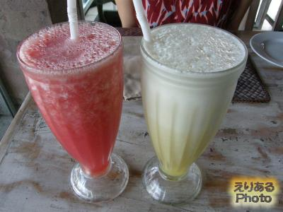 Watermelon&Pineapple Juices@Cafe Asia