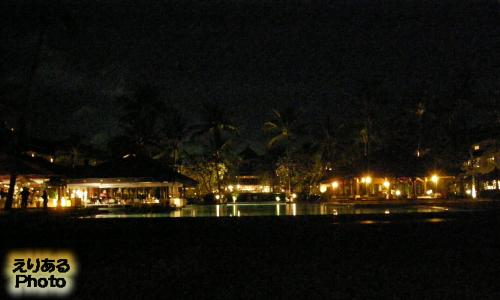 インターコンチネンタル・バリ・リゾートの夜景