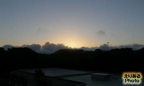 南房総富浦ロイヤルホテルから見た朝陽