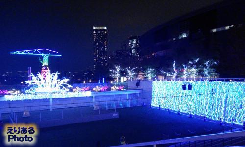 2014年のアーバンドックららぽーと豊洲のクリスマスイルミネーション