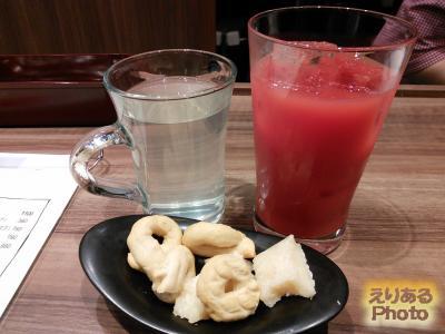 ブラッドオレンジジュースと俺のレモネード(温)@俺のイタリアン TOKYO