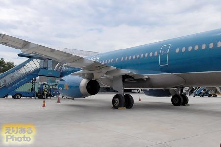 ベトナム・ダナン国際空港のベトナム航空機