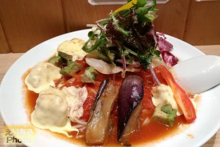 海老マヨのクリーミーベジトマト麺@太陽のトマト麺