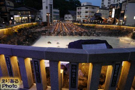 草津温泉 夜の湯畑