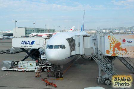 羽田空港ANA機
