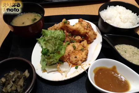 旨辛揚鶏定食@やきとり宮川 豊洲店